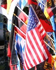 usa fahne, internationale flaggen