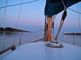 summer night sailing