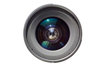 isolated lens on white background
