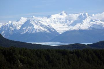 snow on the mountain top
