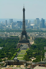 eiffel tower and champs de mars