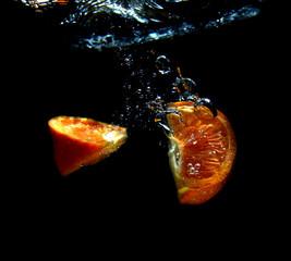 Poster de jardin Eclaboussures d eau falling fruit