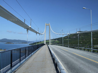huge steel suspension bridge
