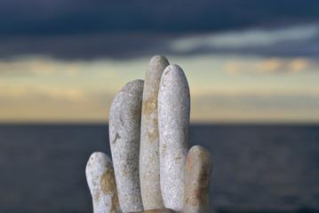 rock sculpture at the beach