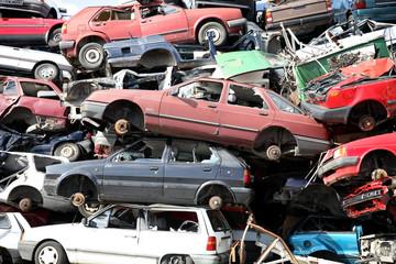 recyclage de vielles voitures