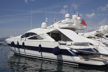 luxury yacht in the port of saint-tropez