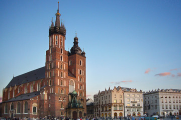 the main square in krakow