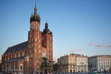 the main square in krakow