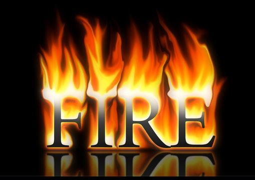 word fire