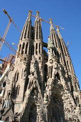 sagrada familia cathedral by gaudi.