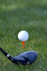 balle de golf et club
