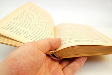holding vintage book #3