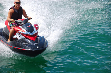 Photo Blinds Water Motor sports biscayne bay jet skier