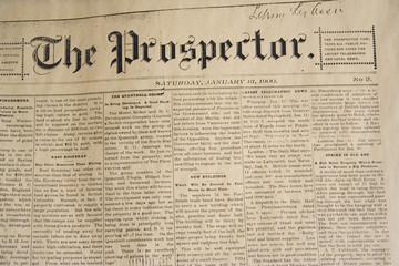 antique daily newspaper