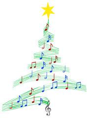 carol music christmas tree