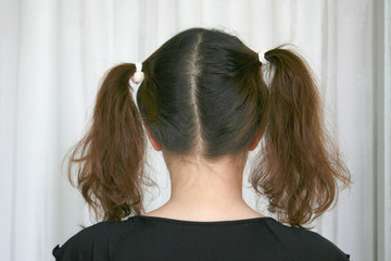 girl with pony-tail
