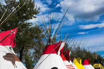 tepees on the great plains