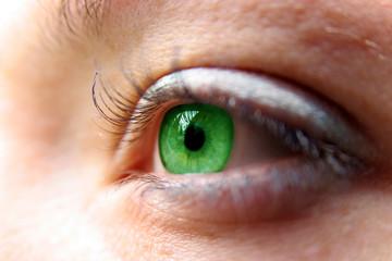 green eyes