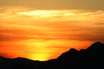 exotic sun set