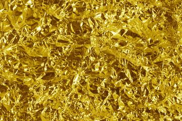 crumpled gold metal