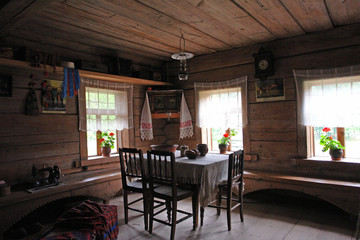 old russian household interior