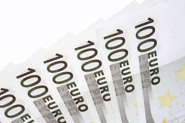 einhundert euro scheine aufgefächert