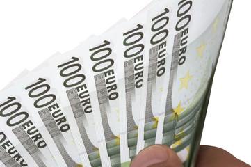 einhundert euro scheine aufgefächert p03