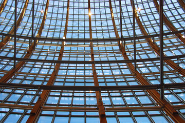 glassfassade stahl/holz