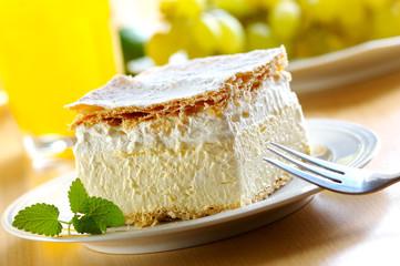 cream and custard pastry