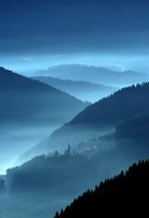 Poster Bleu nuit mystic valley