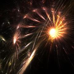 glittering firework