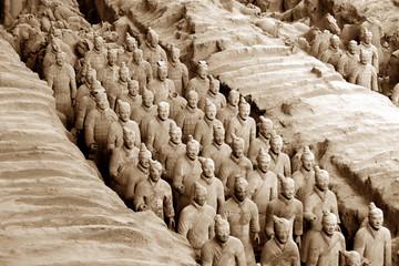 Fotorolgordijn Xian armée enterrée au musée de xian