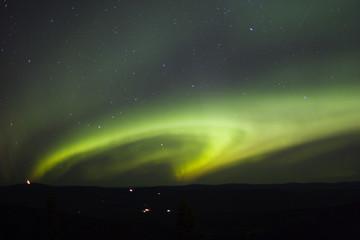 shape of northern lights