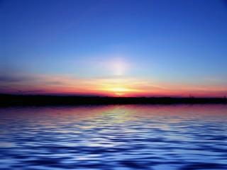 evening. ocean