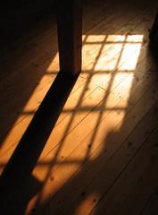 sunlight pattern on floor