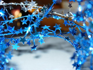 blue and silver christmas stars