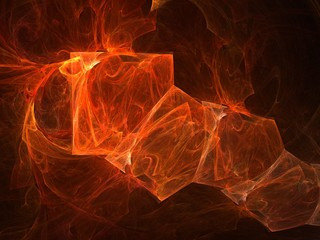 flaming 3d squares