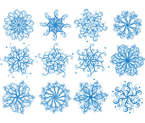 floral snowflakes