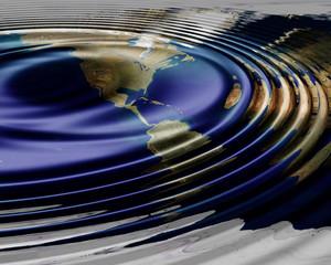 earth map waving