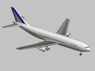 avion airbus 3d