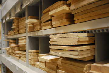 cubbies of cut lumber