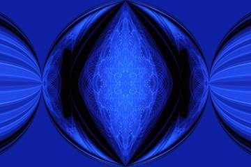 digital blue flash