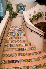 spanish tile staircase