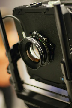 large format camera lens from side
