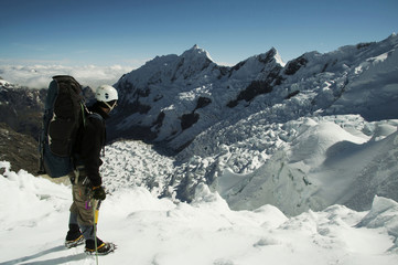 climber on the glacier
