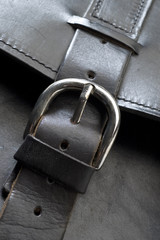 leather bag detail strap and buckle