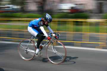 very fast cyclist