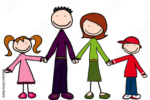 family praying together clip art