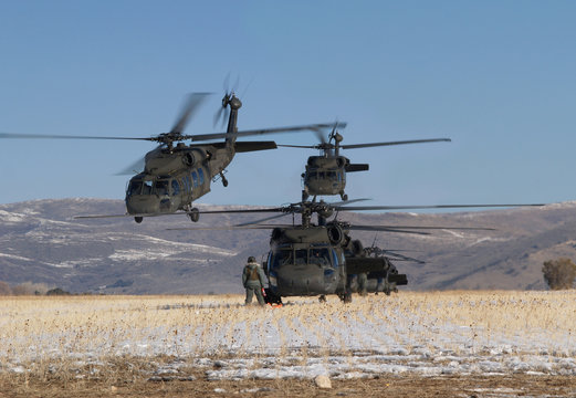 helicopter formation