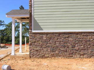 stone and siding